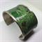Bangle Cuff - Green Leafy Fabric - FREE POSTAGE
