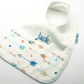 Baby Bib, Personalised - Arrows on Cotton Fabric Bamboo Toweling.