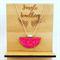 Necklace - Half Moon Raspberry Truffle