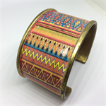 Bangle Cuff - Mexican Aztec/2  - FREE POSTAGE
