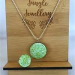 Necklace and Ring Set - Lime Fizzer