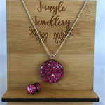 Necklace and Earring Set - Rosebud