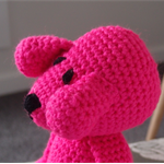 Dani Bear : crochet, safe, OOAK, washable, baby shower, girl