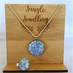 Necklace and Ring Set - Lilac Days