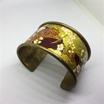 Bracelet Cuff - Vintage Japanese Kimono Fabric - FREE POSTAGE