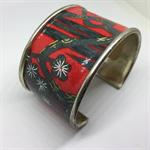 Bangle Cuff - Red Kimono - FREE POSTAGE