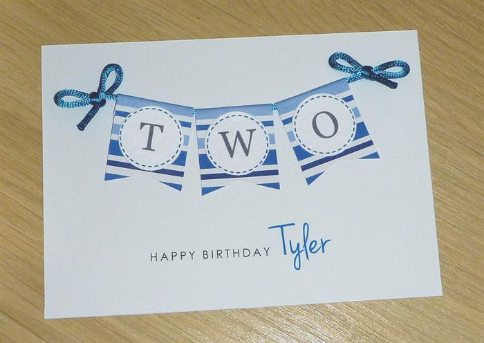 Boys 2nd Birthday Card