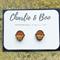Cupcake Stud Earrings Laser Cut Wood