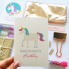 Unicorn Card, Birthday Card Girl, Unicorn Birthday Card, HBC247