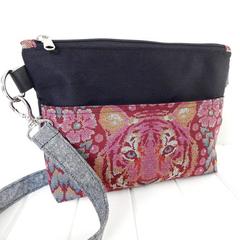 Cross Body Bag, Tula Pink Fabric Zipper Bag