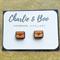 Love Heart Envelope Laser Cut Wood Stud Earrings