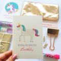 Unicorn Card, Birthday Card Girl, Unicorn Birthday Card, HBC247