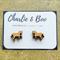 Horse Laser Cut Wood Stud Earrings