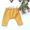 Baby harem pants, linen mustard boys or girls size approx 3-6mths