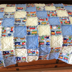 Handmade Rag Quilt For Baby