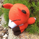 Sleepy Fox - Handmade Amigurumi Doll