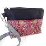 Cross Body Bag, Tula Pink Fabric Zipper Bag