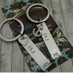 Couple Gift set, Mr and Mrs keychains, initial keychains, personalized couple