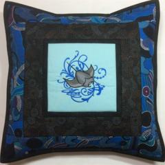 Australiana cushion cover - Manta Ray