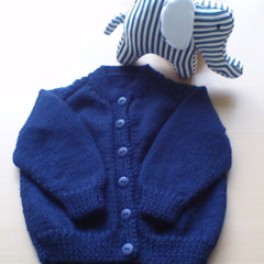 Yellow and Blue Baby Cardigans to fit size 6 to 12 months.