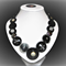 Beaut Buttons - Black Pearl  button necklace