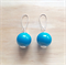 AQUA BASICS ACRYLIC BALL EARRINGS - FREE SHIPPING WORLDWIDE
