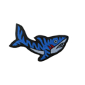 Iron on Tiger Shark Patch