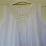 White Cotton Nightgown with Lace