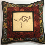 Australiana cushion cover - Kangaroo