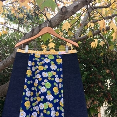 Vintage daisies and denim, A line skirt