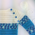 Pure Wool Crochet Jumper | 12 - 18 Months | Boy | Hand Crocheted | Ready to Post