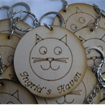 Handcrafted Ingrid's Haven Key Ring