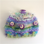 3-6 month embellished baby knit hat. One of a kind.