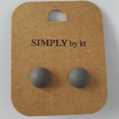 Polly Dot - Clay Earrings #grey