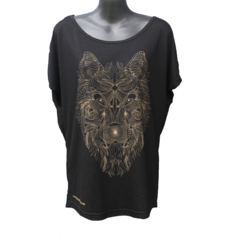 Aztec Wolf - Ladies Bat Wing Tee