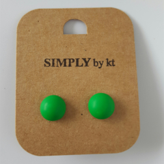 Polly Dot - Clay Earrings #forest
