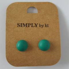 Polly Dot - Clay Earrings #emerald