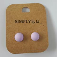 Polly Dot - Clay Earrings #lilac