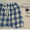 Baby toddler shorts, bloomers, harem pants navy and white gingham, baggy shorts