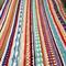 Handmade Crochet Blanket, Multi-colour Sampler, Bed Cover
