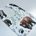 Watercolour bear bib