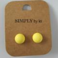 Polly Dot - Clay Earrings #lemon