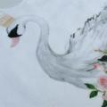 Floral Swan bib