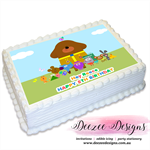 Hey Duggee Personalised A4 Edible Icing Cake Topper
