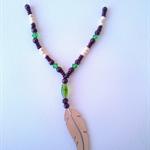 Green 'Free as a Bird' Oil Diffuser Necklace