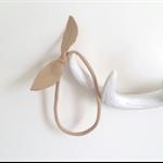 Baby headband, bow knot headband beige leather photo prop, newborn headband