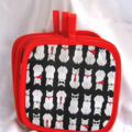 Cat Pot Holder Red Trim