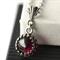 Gothic Garnet Pendant, Almandine Garnet Necklace with Antiqued Sterling Chain