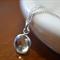 Green Quartz Necklace, 8mm Gemstone & Sterling Silver Chain