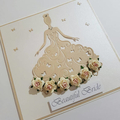 Beautiful Bride Card - Butterfly Dress